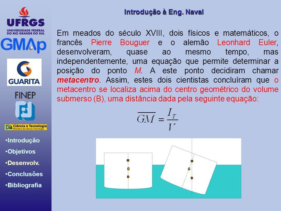 Em meados do século XVIII, dois físicos e matemáticos, o francês Pierre Bouguer e o alemão Leonhard Euler, desenvolveram, quase ao mesmo tempo, mas independentemente, uma equação que permite determinar a posição do ponto M.