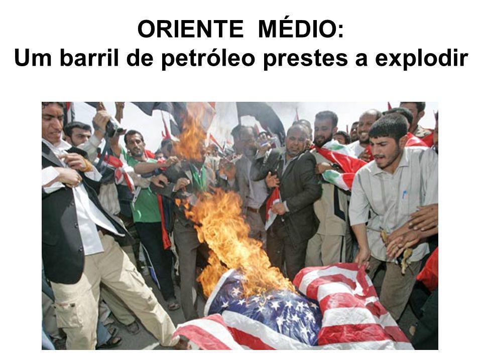 Um barril de petróleo prestes a explodir