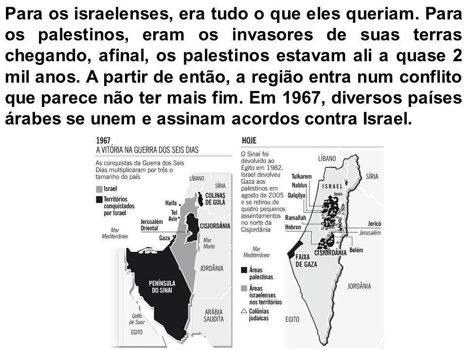Para os israelenses, era tudo o que eles queriam