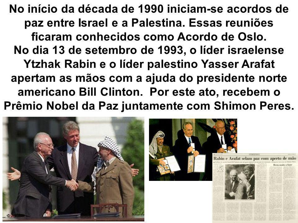 No dia 13 de setembro de 1993, o líder israelense