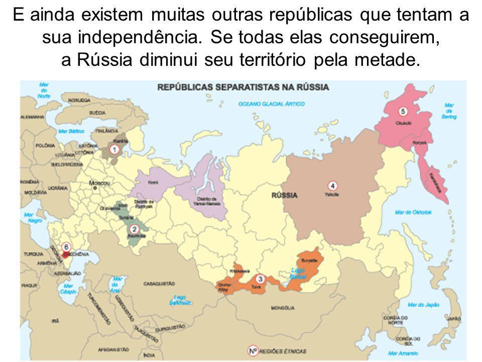 a Rússia diminui seu território pela metade.