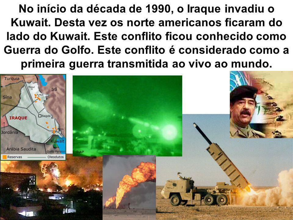 No início da década de 1990, o Iraque invadiu o Kuwait