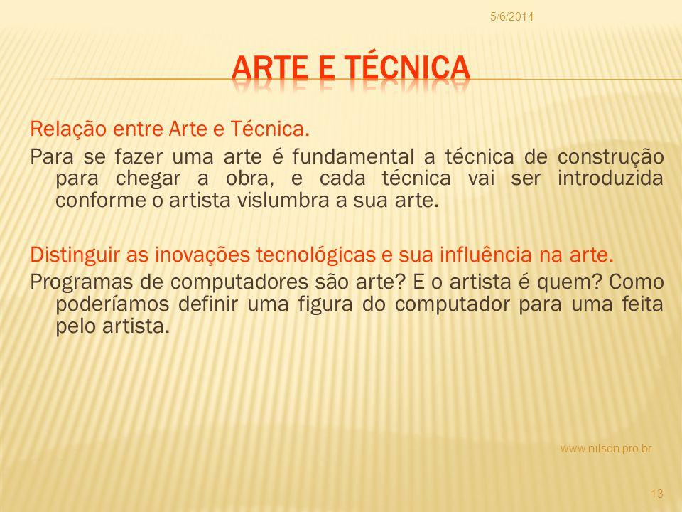 01/04/2017 Arte e técnica.