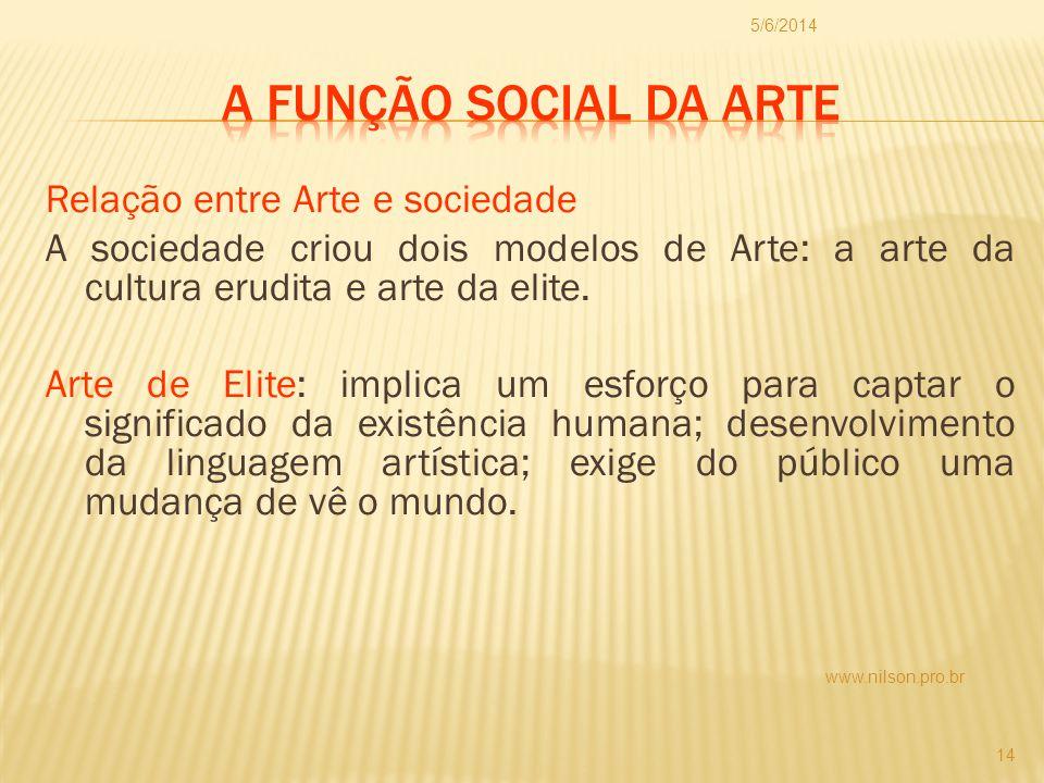 01/04/2017 A função social da arte.
