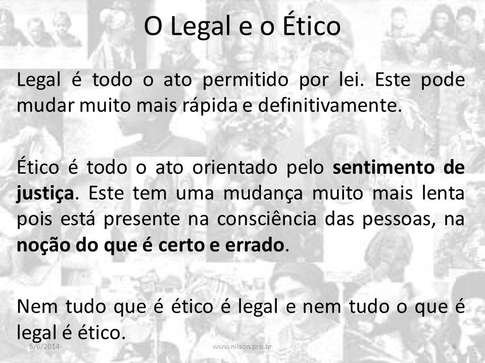 O Legal e o Ético