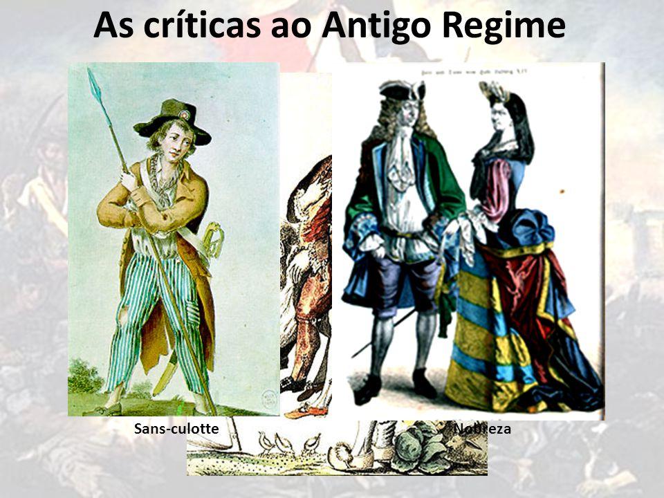 As críticas ao Antigo Regime