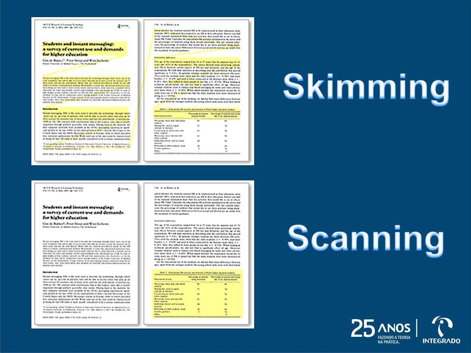 Skimming Scanning
