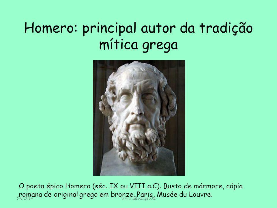 Homero: principal autor da tradição mítica grega