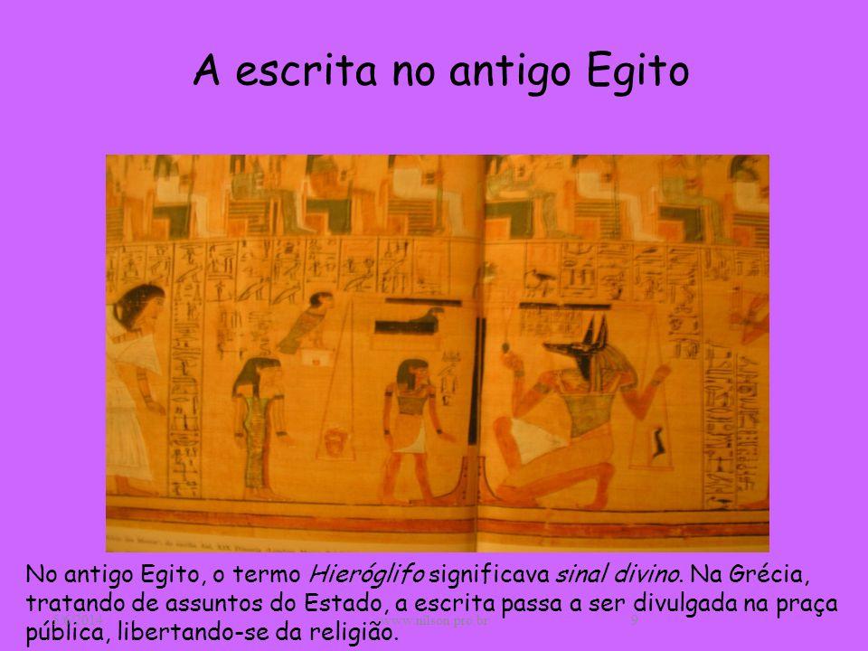 A escrita no antigo Egito