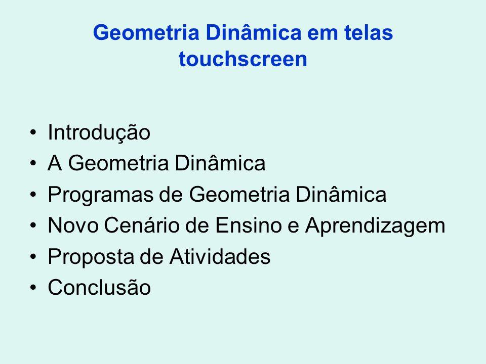Geometria Dinâmica em telas touchscreen