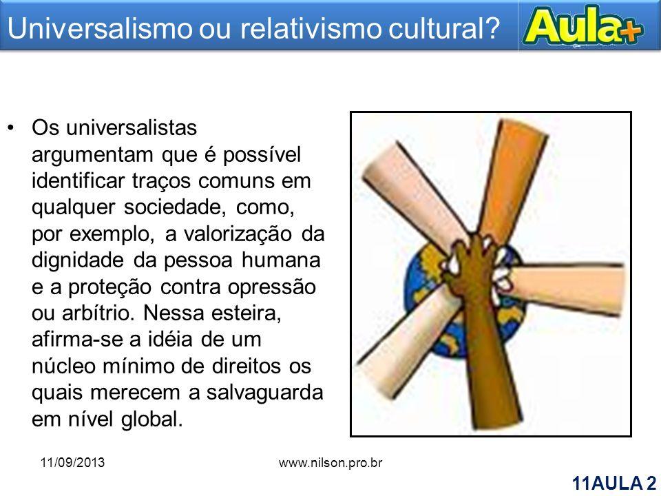 Universalismo ou relativismo cultural