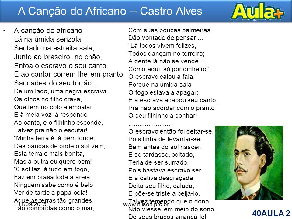 A Canção do Africano – Castro Alves