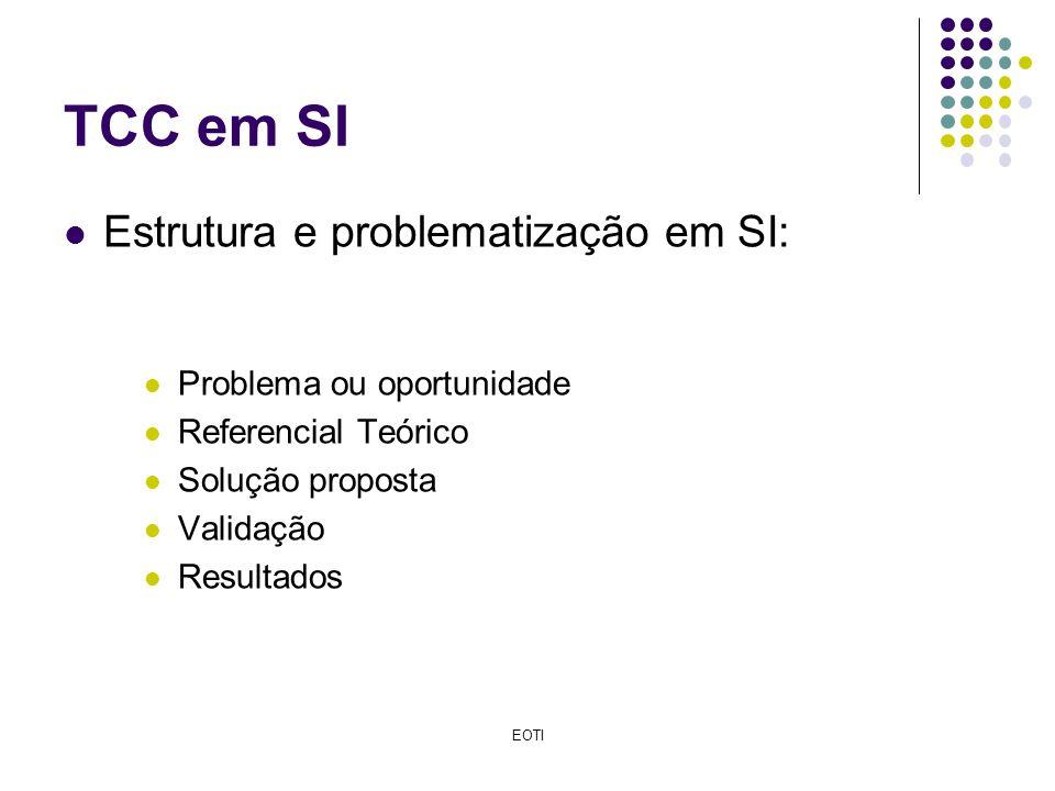 TCC em SI Estrutura e problematização em SI: Problema ou oportunidade