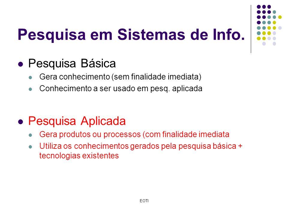 Pesquisa em Sistemas de Info.