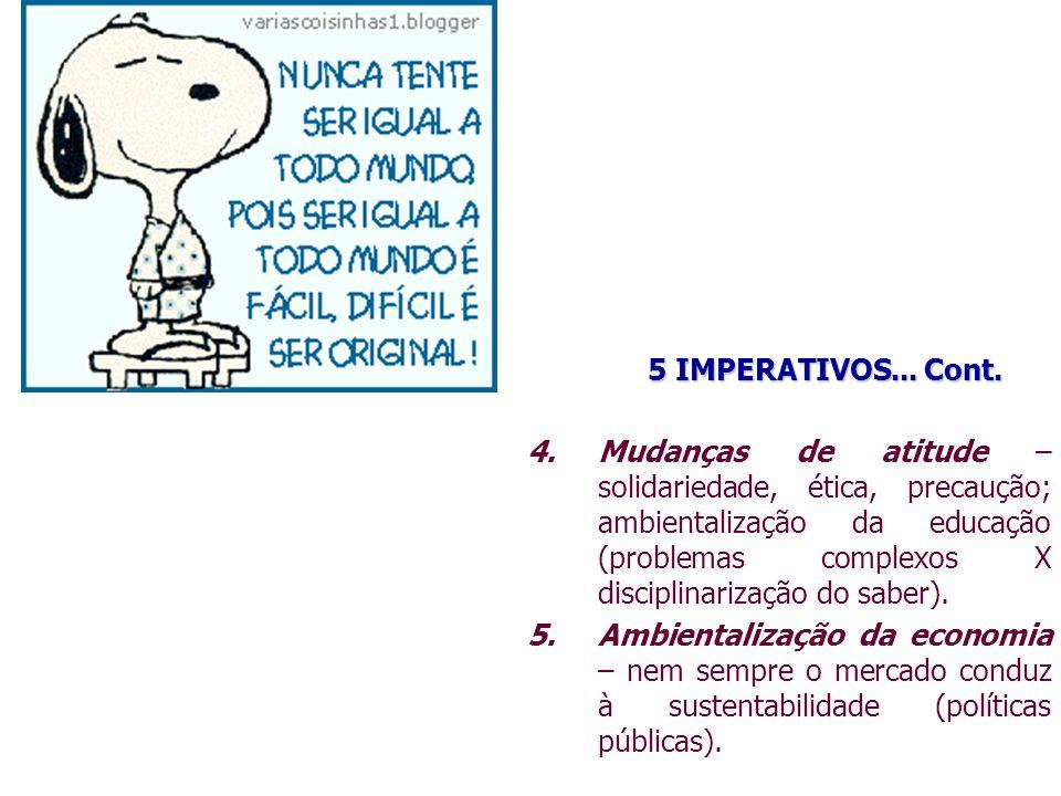 5 IMPERATIVOS... Cont.