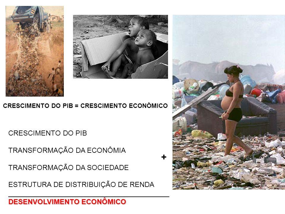+ CRESCIMENTO DO PIB TRANSFORMAÇÃO DA ECONÔMIA
