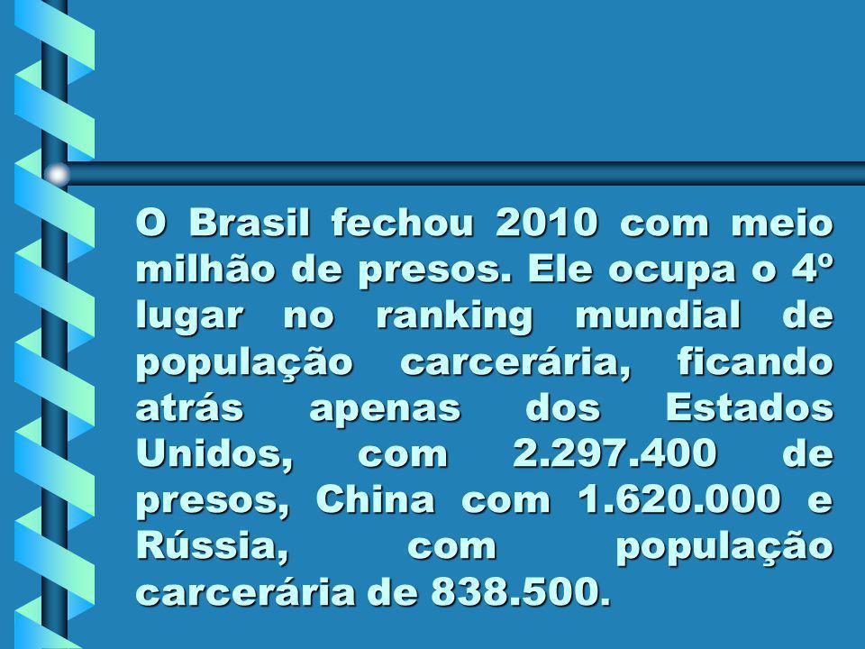 O Brasil fechou 2010 com meio milhão de presos