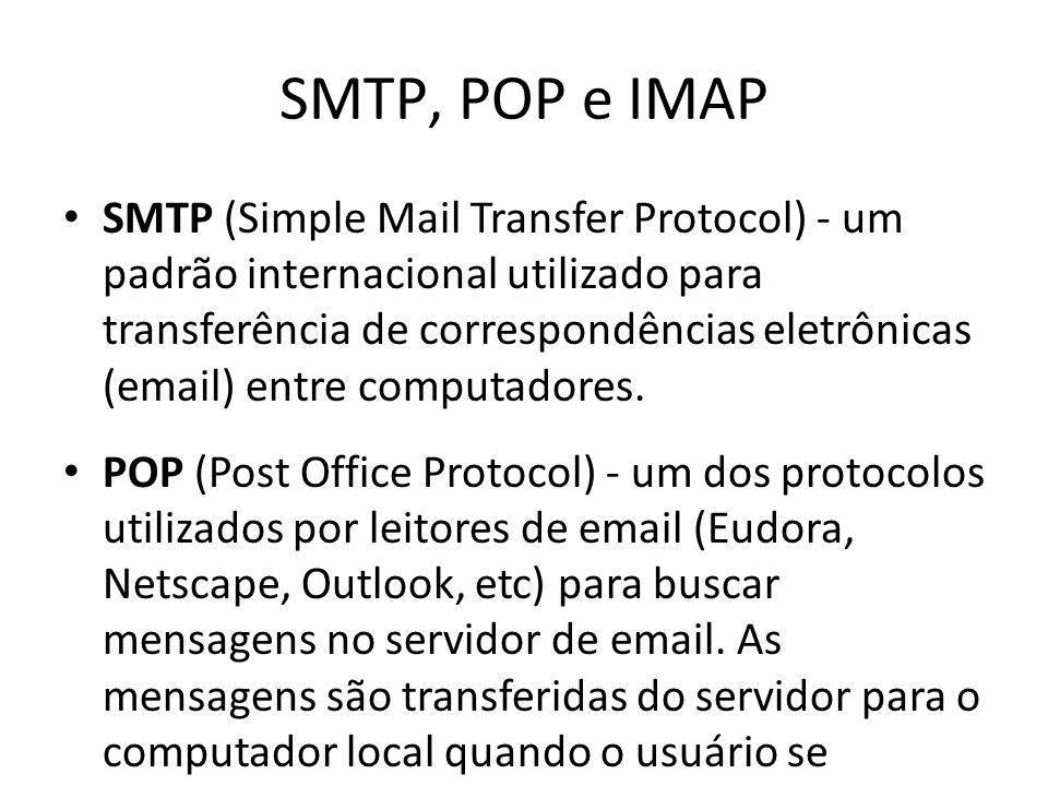 SMTP, POP e IMAP