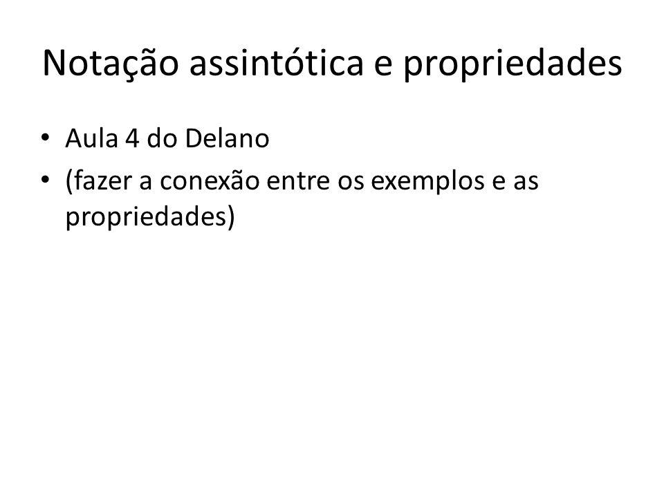 Notação assintótica e propriedades