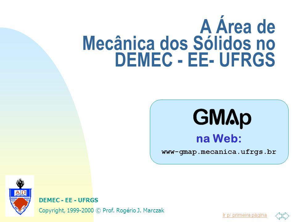 A Área de Mecânica dos Sólidos no DEMEC - EE- UFRGS