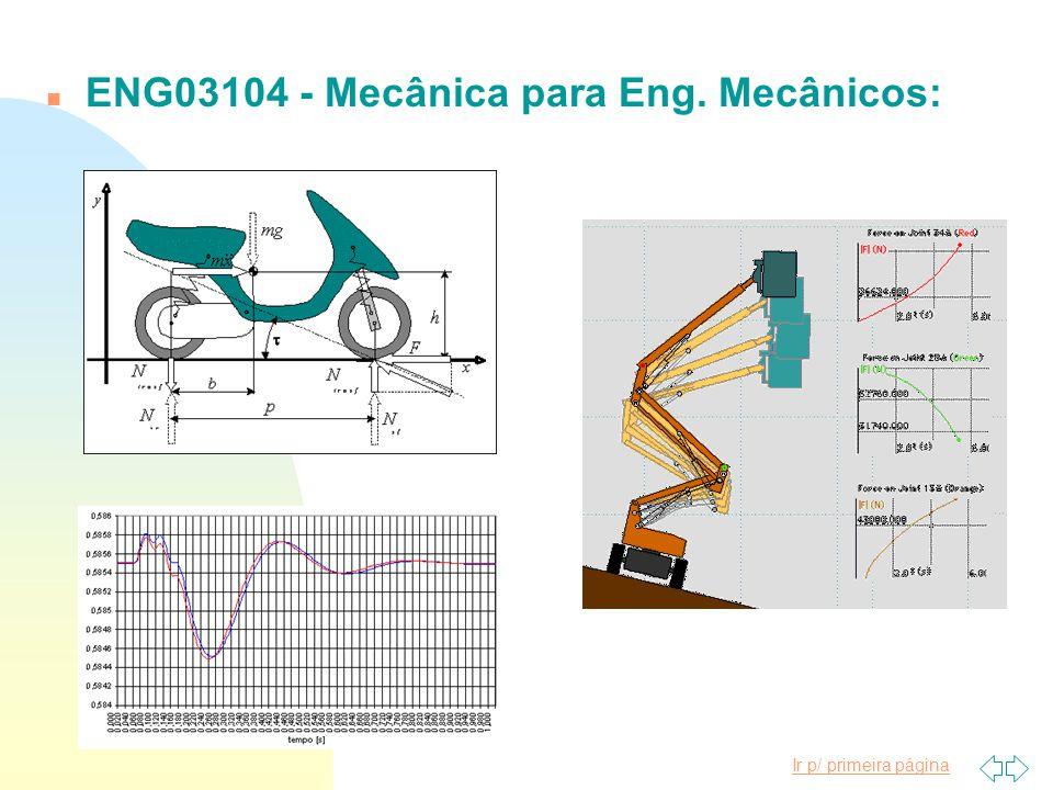 ENG03104 - Mecânica para Eng. Mecânicos: