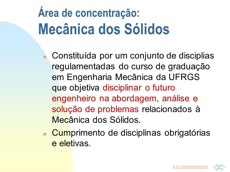 Área de concentração: Mecânica dos Sólidos