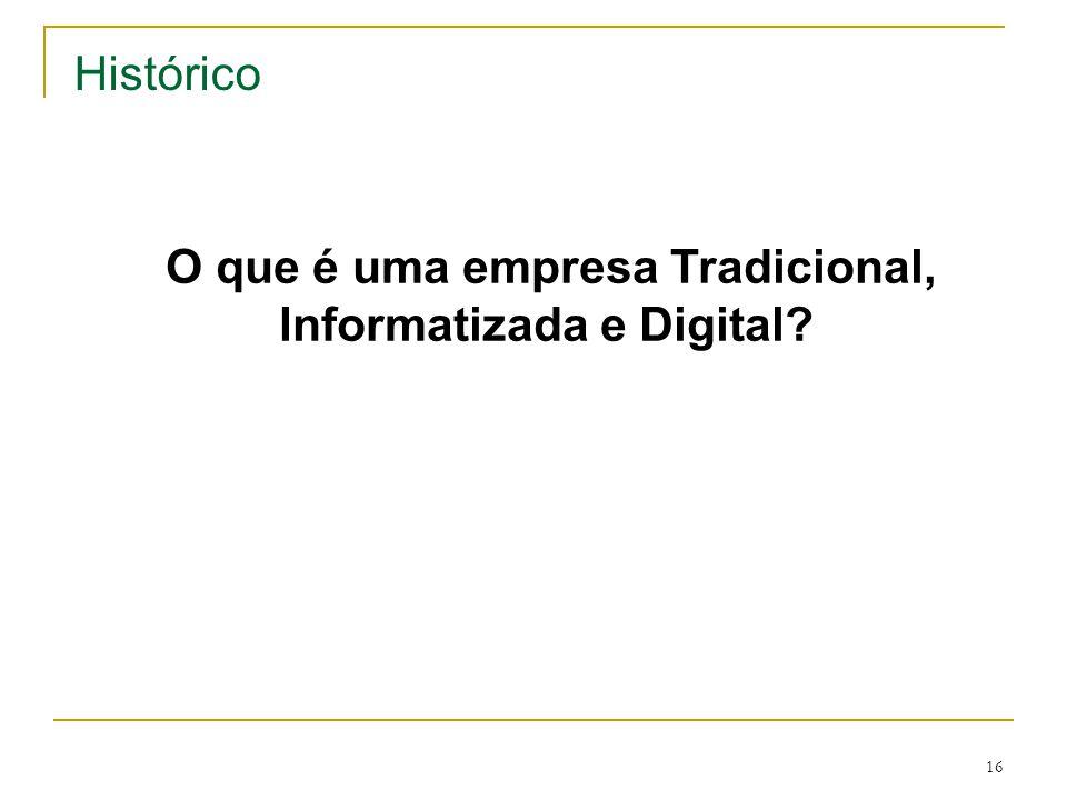 O que é uma empresa Tradicional, Informatizada e Digital