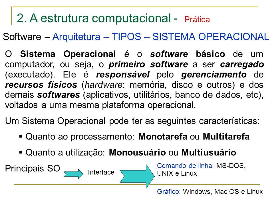 2. A estrutura computacional - Prática