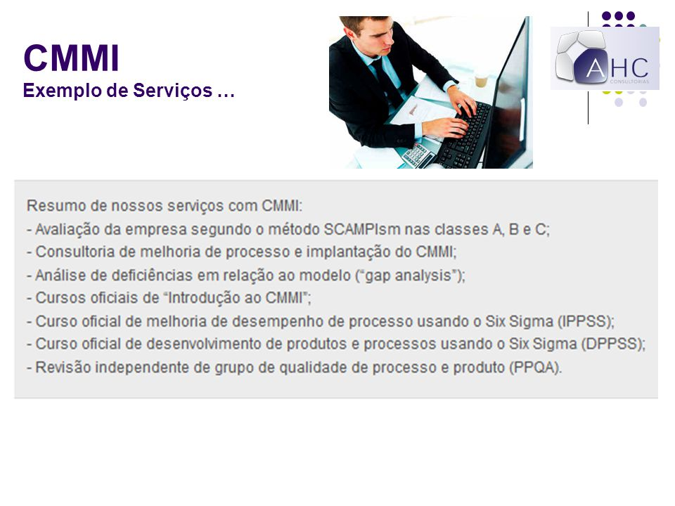CMMI Exemplo de Serviços …