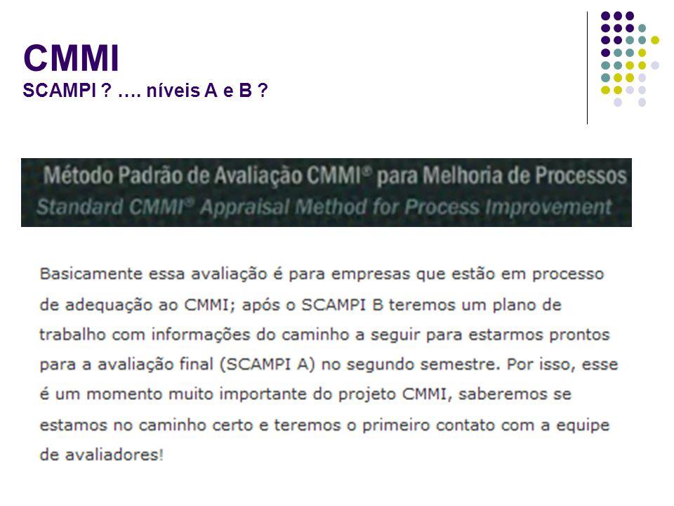CMMI SCAMPI …. níveis A e B