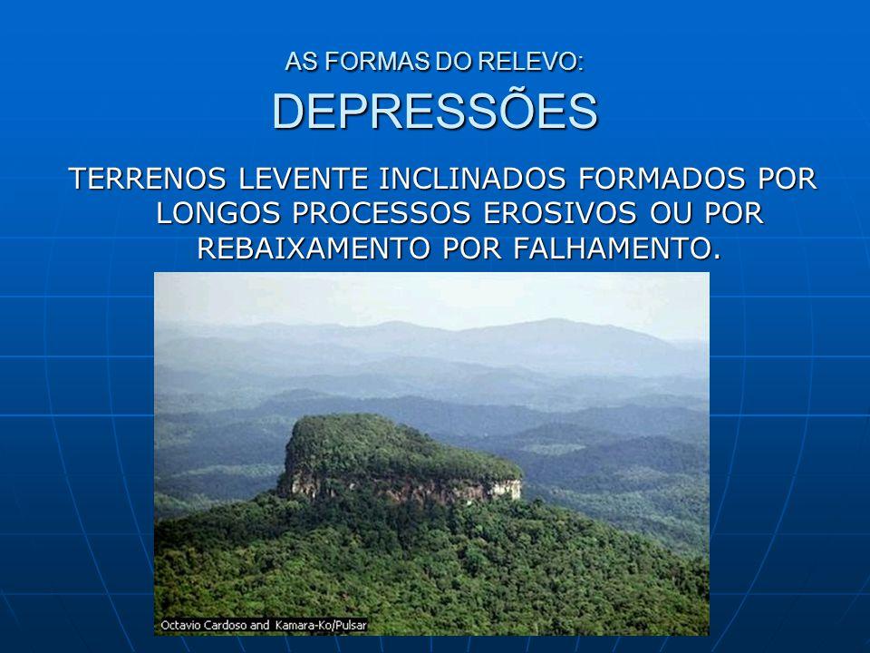AS FORMAS DO RELEVO: DEPRESSÕES