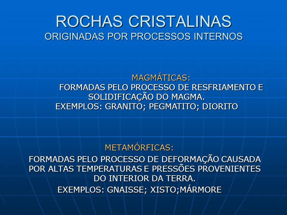 ROCHAS CRISTALINAS ORIGINADAS POR PROCESSOS INTERNOS