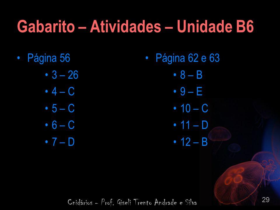 Gabarito – Atividades – Unidade B6