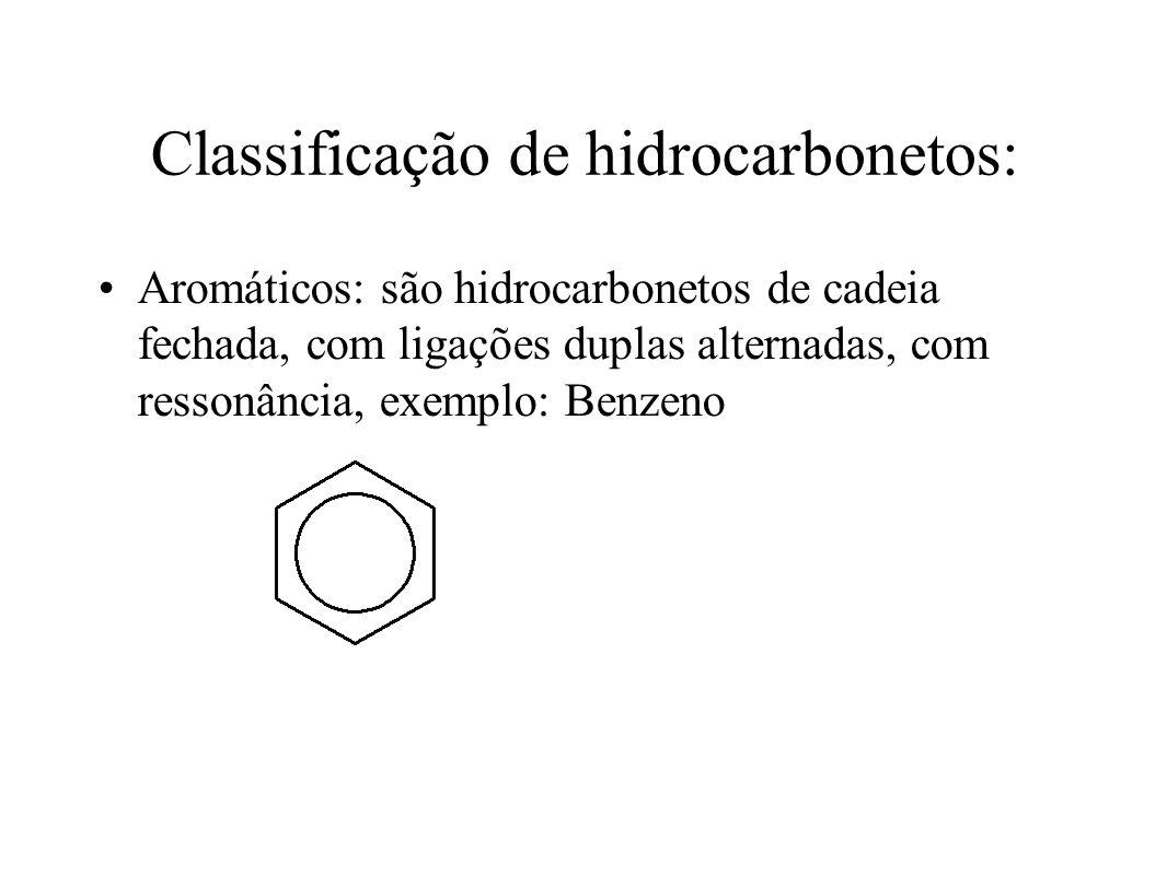 Classificação de hidrocarbonetos: