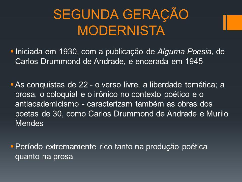 SEGUNDA GERAÇÃO MODERNISTA