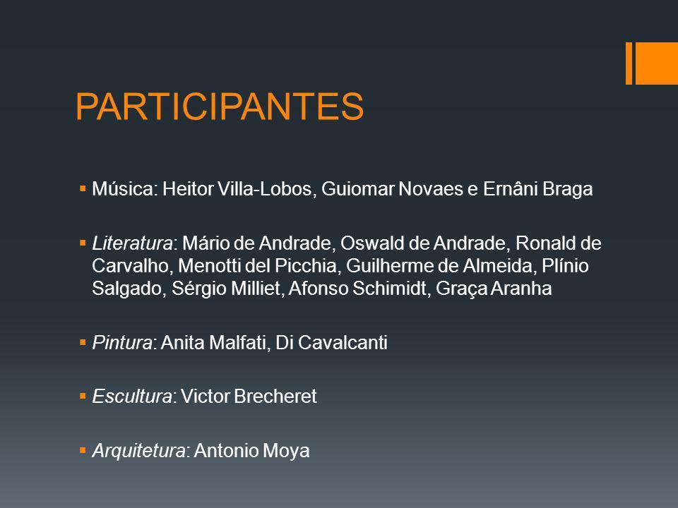 PARTICIPANTES Música: Heitor Villa-Lobos, Guiomar Novaes e Ernâni Braga.