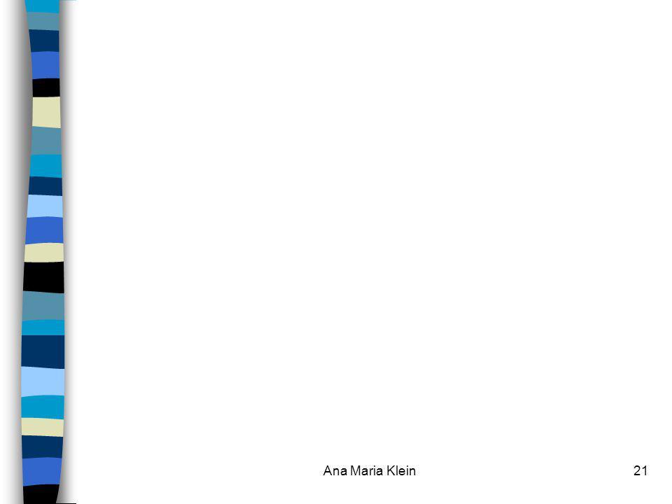 Ana Maria Klein Ana Maria Klein