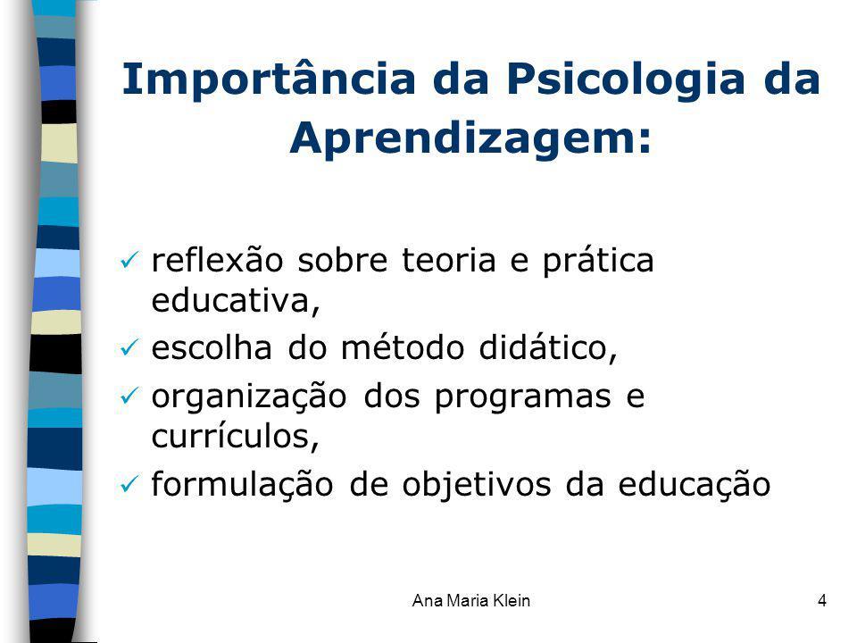 Importância da Psicologia da Aprendizagem: