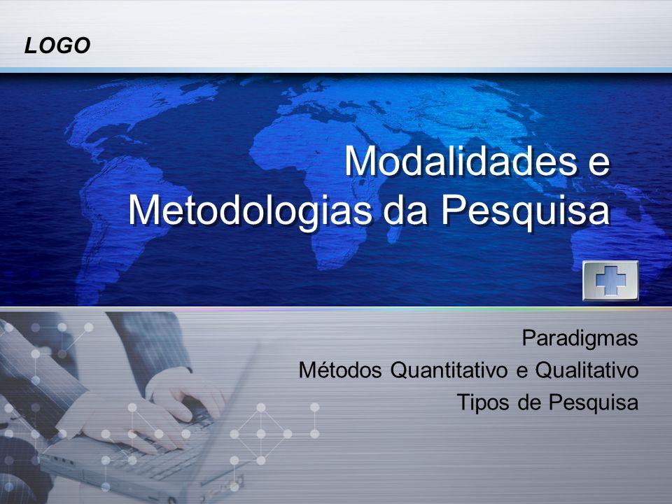 Modalidades e Metodologias da Pesquisa