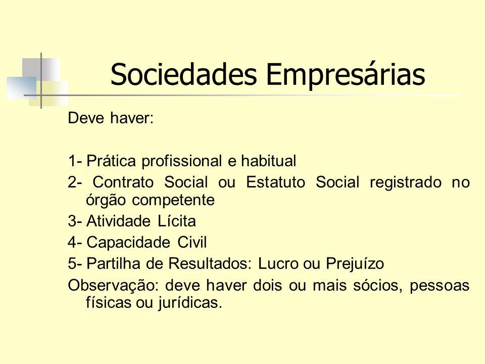 Sociedades Empresárias