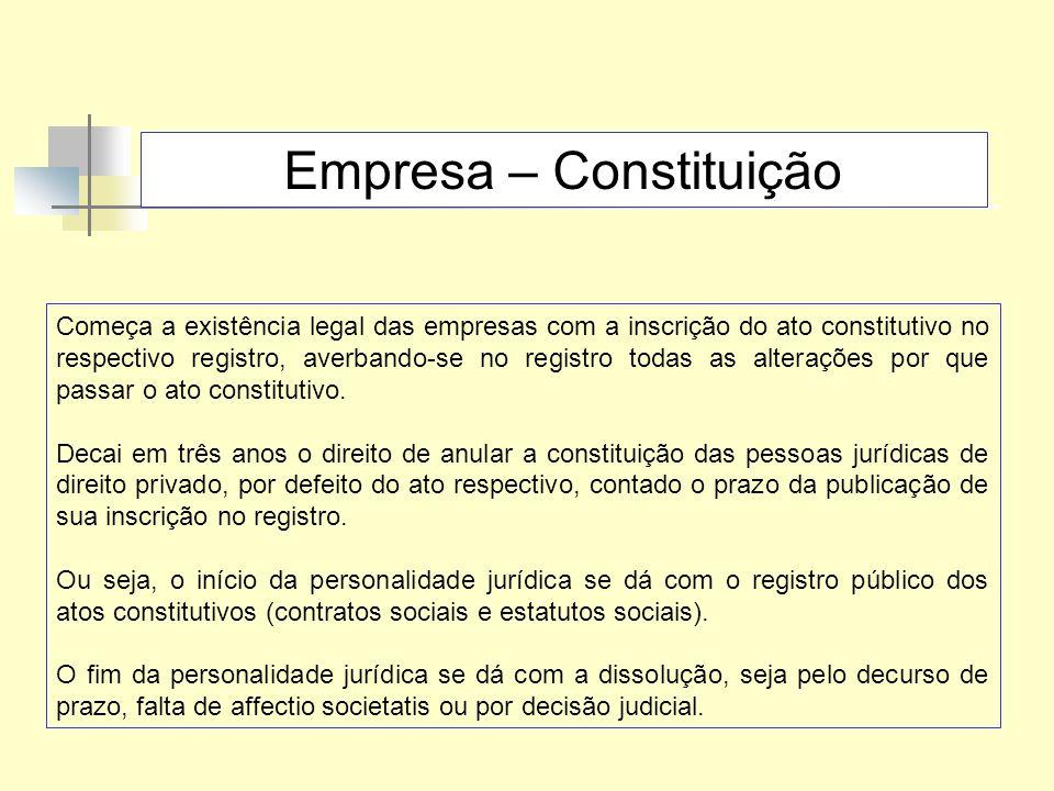 Empresa – Constituição
