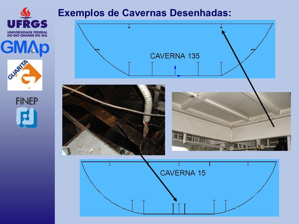 Exemplos de Cavernas Desenhadas: