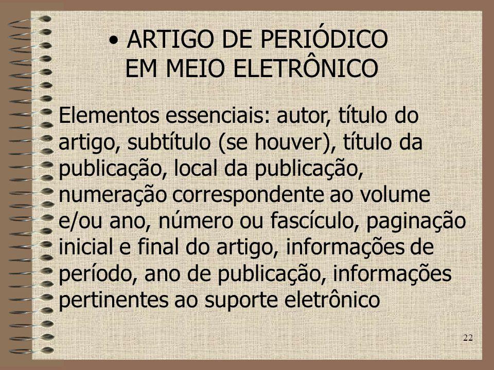 ARTIGO DE PERIÓDICO EM MEIO ELETRÔNICO