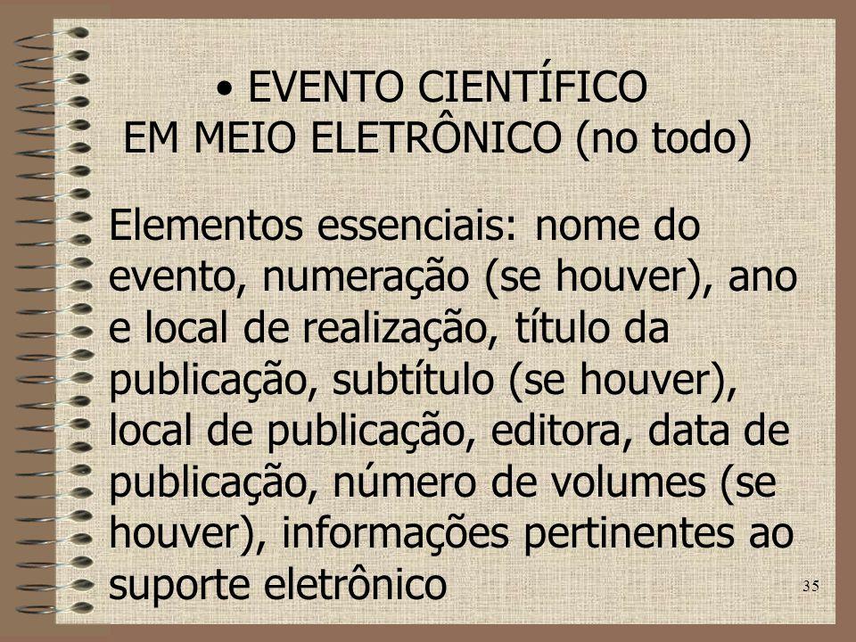 EM MEIO ELETRÔNICO (no todo)