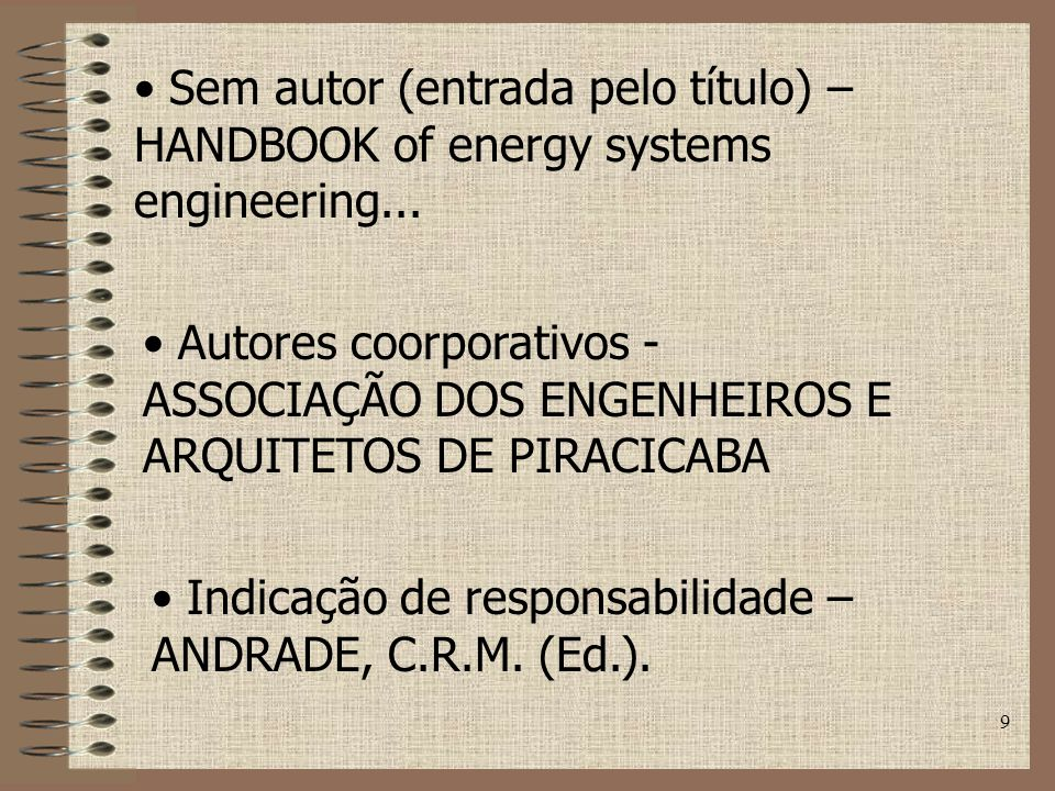 Sem autor (entrada pelo título) – HANDBOOK of energy systems engineering...