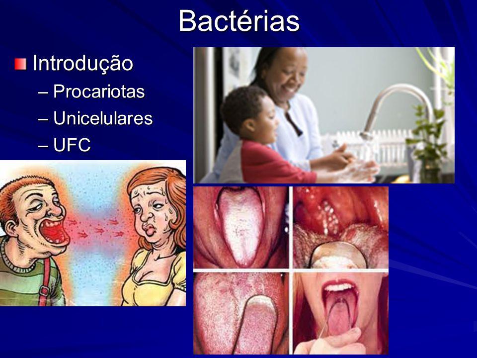 Bactérias Introdução Procariotas Unicelulares UFC
