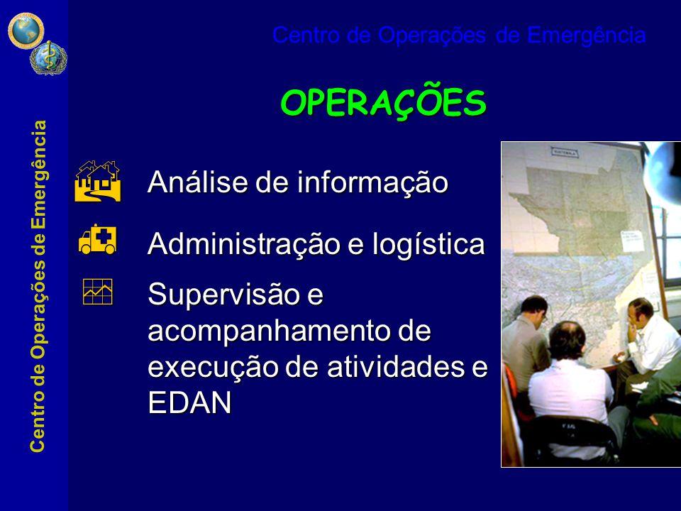 OPERAÇÕES Análise de informação Administração e logística