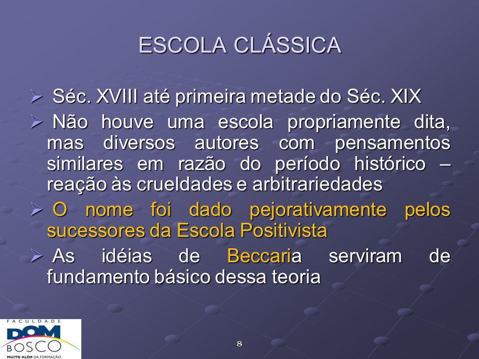 ESCOLA CLÁSSICA Séc. XVIII até primeira metade do Séc. XIX