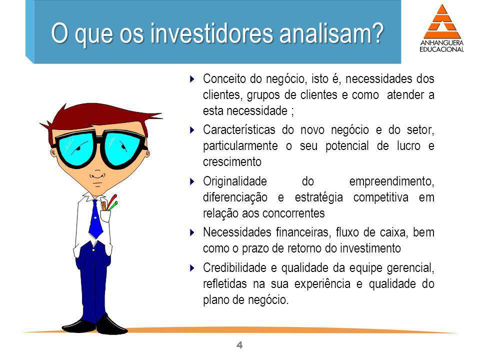 O que os investidores analisam