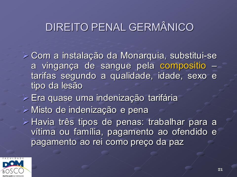 DIREITO PENAL GERMÂNICO